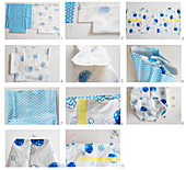 Instructions for making oilcloth and cotton lunch bag