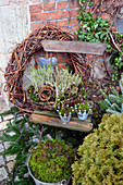Autumn - Arrangement With Heather, Wreath And Moss