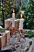 Candles In Star Candleholders