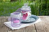 DIY-Flieder-Teelichter