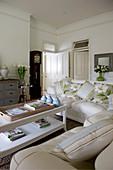 Elegant living room in cream