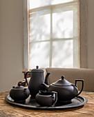 Black, 1920s basalt tea service