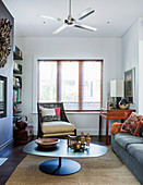 Mix of styles in the small living room