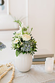 Summer bouquet in white vase