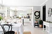 Bright, Scandinavian-style, open-plan interior