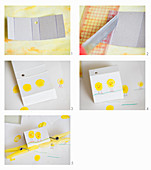 Instructions for making box decorated with painted chicks