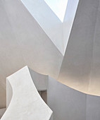 Faceted ceiling and walls
