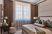 Elegant bedroom in muted shades