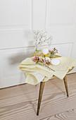 Easter arrangement on stool