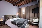 Elegant bedroom in shades of grey