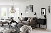 Classic living room in subdued colours