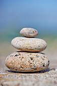 Steine aufeinander gelegt