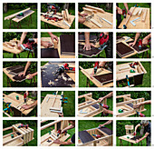 Instructions for building a raised bed with multiple levels