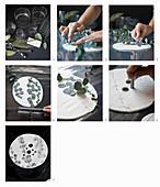 Anleitung für einen Vasenaufsatz aus Modelliermasse mit Blattmotiv