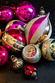 Colourful Christmas-tree baubles