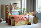 Schlafzimmer mit natürlichem Asia-Style
