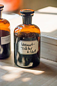 Apothecary's bottle of wormwood tincture