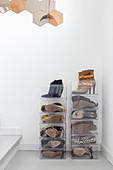 Transparent shoe boxes