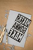 A DIY linoleum print