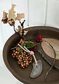 Autumn finds in a bowl