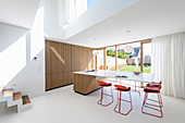 Concealed kitchen and modern floating counter