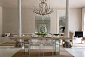Exclusive dining room in Mediterranean designer style