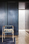 Minimalist wardrobes with metal-effect doors