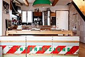 Kitchen furnishings made from recycled materials