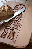 Breadboard handmade from wooden mould