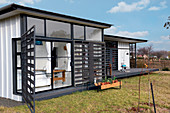 Eco-friendly pre-fab house made from galvanised steel