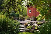 Swedish house with raised terrace