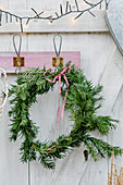Simple yew wreath