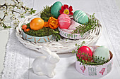 DIY Easter nests in chip wood boxes