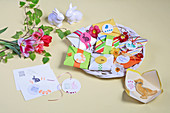 Easter biscuits packed in handmade envelopes