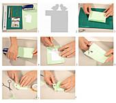 Instructions for making paper Easter nest