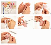 Instructions for knitting an Easter egg cover
