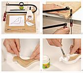 Anleitung für einen Deko-Vogel aus Holz