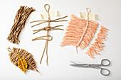 Anleitung für selbstgemachte Feder aus Wolle