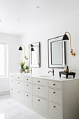 Washstand with moulded sink in classic bathroom