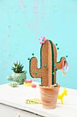 DIY-Pinnboard in Kaktusform