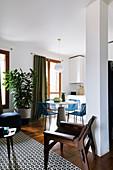 Offener Wohnraum in kleiner Einzimmerwohnung