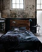 Industrial-style bedroom