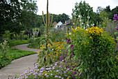 Sensory garden in Papendorf, Germany: goldenrod, mullein, mallow, pot marigolds