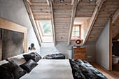 Master Bedroom features large windows
