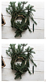 Making a fir-branch wreath