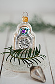 Christmas wall clock ornament