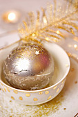 Glittering Christmas bauble