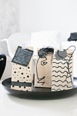 Upcycling: milk cartons as gift packaging