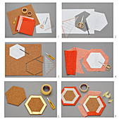 Instructions for making pinboard from hexagonal panels