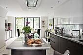 Bespoke fitted open plan kitchen